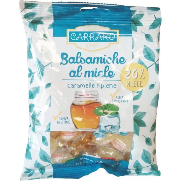 Carraro Caramelle Balsamiche al Miele Καραμέλες για το Λαιμό με Μέλι & Ευκάλυπτο 100gr