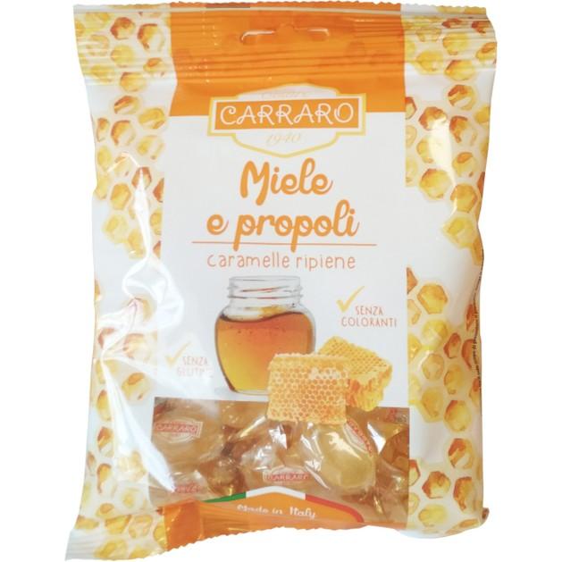 Carraro Caramelle Miele e Propoli Καραμέλες για το Λαιμό με Μέλι & Πρόπολη 100gr