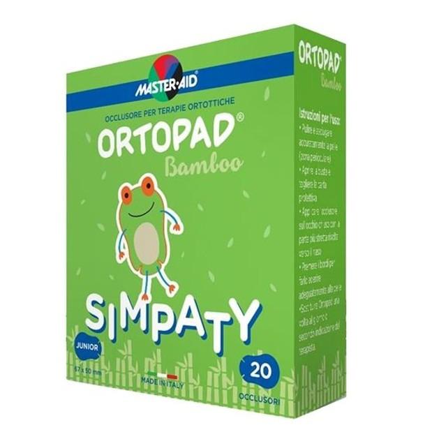 Master aid Ortopad Junior Simpaty Οφθαλμικά Αυτοκόλλητα Για Στραβισμό (έως 2 ετών) 20 Τεμάχια