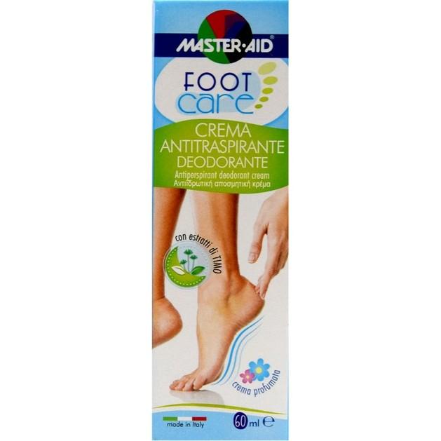 Master Aid Foot Care Αντιϊδρωτική Αποσμητική Κρέμα 60ml