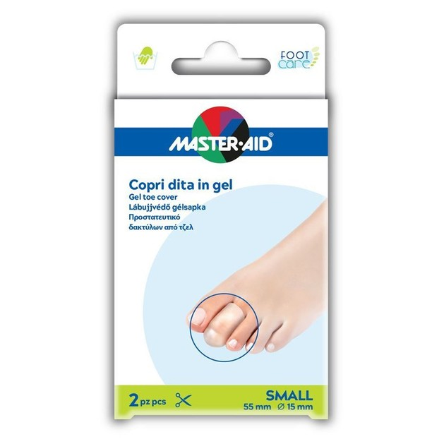 Master Aid Gel Toe Cover Προστατευτικό Δαχτύλων από Τζελ Μέγεθος Small 2 Τεμάχια