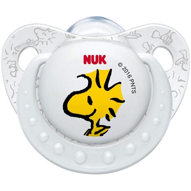 Nuk Trendline Snoopy Peanuts Πιπίλα Σιλικόνης με Κρίκο Χωρίς BPA Λευκό