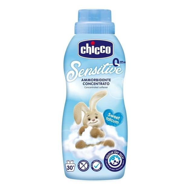 Chicco Sensitive Sweet Talcum 0m+ Υπερ-Συμπυκνωμένο Μαλακτικό Ρούχων Ταλκ 750ml