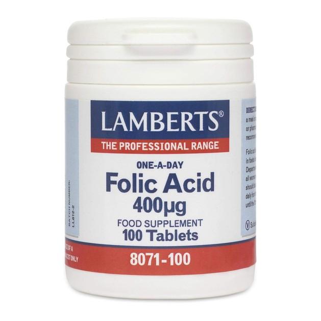 Lamberts Folic Acid 400 mcg 100 tabs