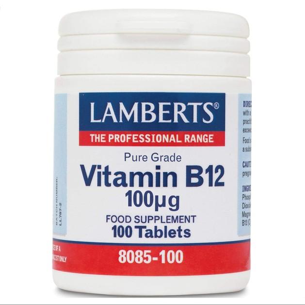 Lamberts Vitamin B-12 100μg 100 tabs
