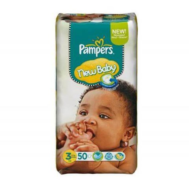 Pampers  New Baby Premium Protection No3 Midi (5-9kg), 50 πάνες