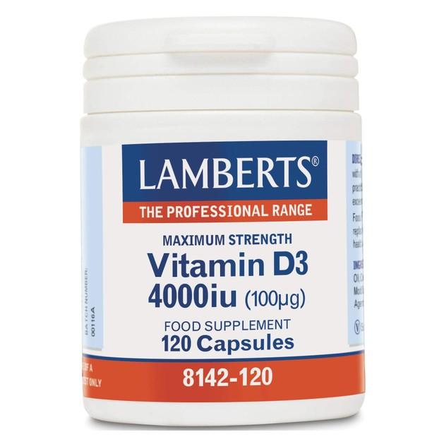 Lamberts Vitamin D3 4000iu 100μg 120 tabs