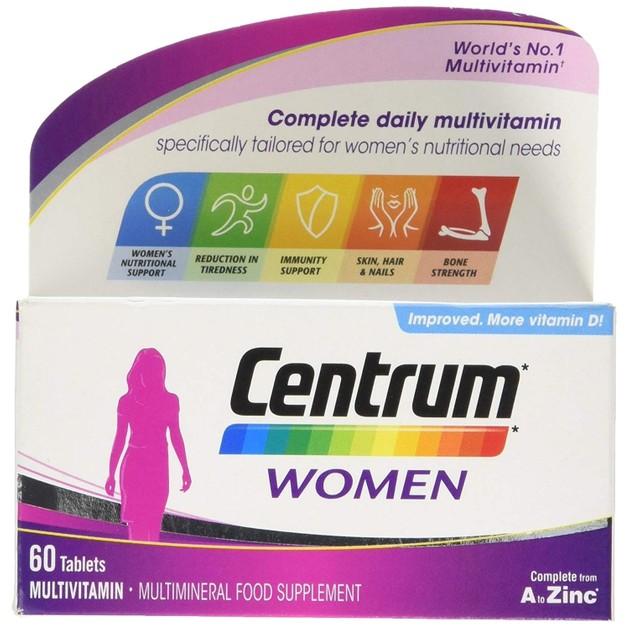 Centrum Women A to Zinc Συμπλήρωμα Διατροφής με Βιταμίνες,Μεταλλικά Στοιχεία & Βιταμίνη D Ειδικά Σχεδιασμένο για Γυναίκες 60tabs