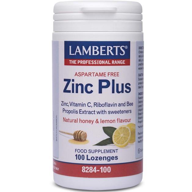Zinc Plus Lozenges 100 tabs - Lamberts
