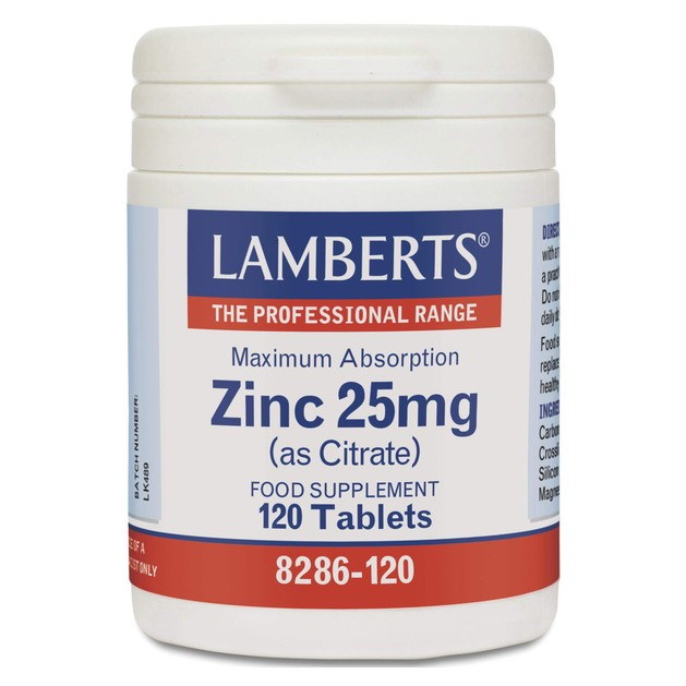 Lamberts Zinc 25mg (as Citrate)120tabs