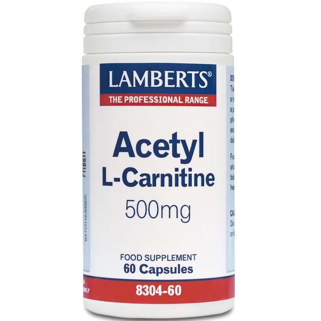 Lamberts Acetyl L-Carnitine 500mg 60 tabs