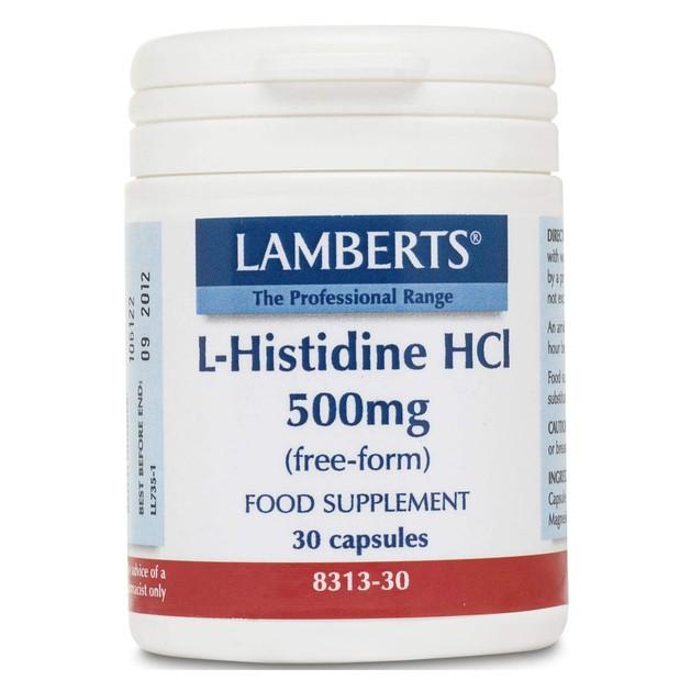 Lamberts L-Histidine HC 500mg 30 caps