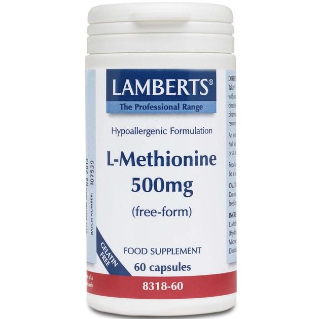 Lamberts L-Methionine 500mg 60 caps
