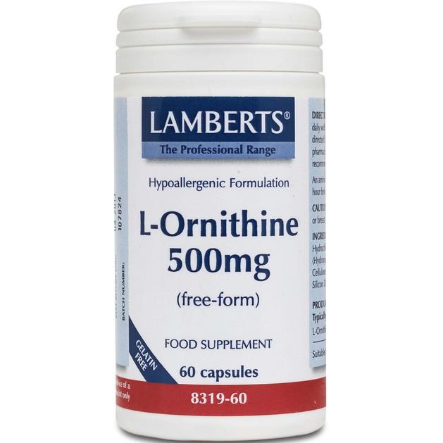 Lamberts L-Ornithine 500mg 60 tabs