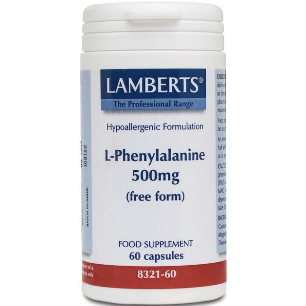 Lamberts L-Phenylalanine 500mg 60 tabs
