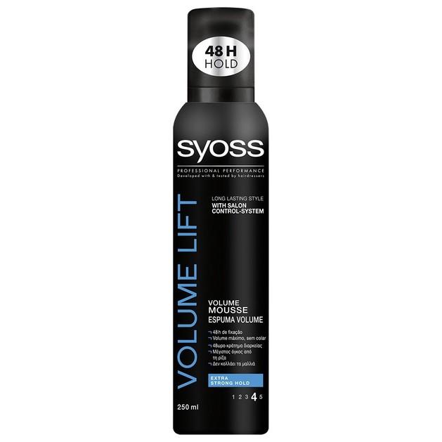 Syoss Mousse Volume Lift Επαγγελματικός Αφρός Μαλλιών, Δυνατό Κράτημα & Μαλλιά με Αέρινο Όγκο Από την Ρίζα 250ml