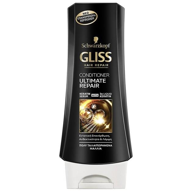Schwarzkopf Gliss Ultimate Repair Conditioner Κρέμα Περιποίησης με 3x Περισσότερη Κερατίνη για Πολύ Ταλαιπωρημένα Μαλλιά 200ml