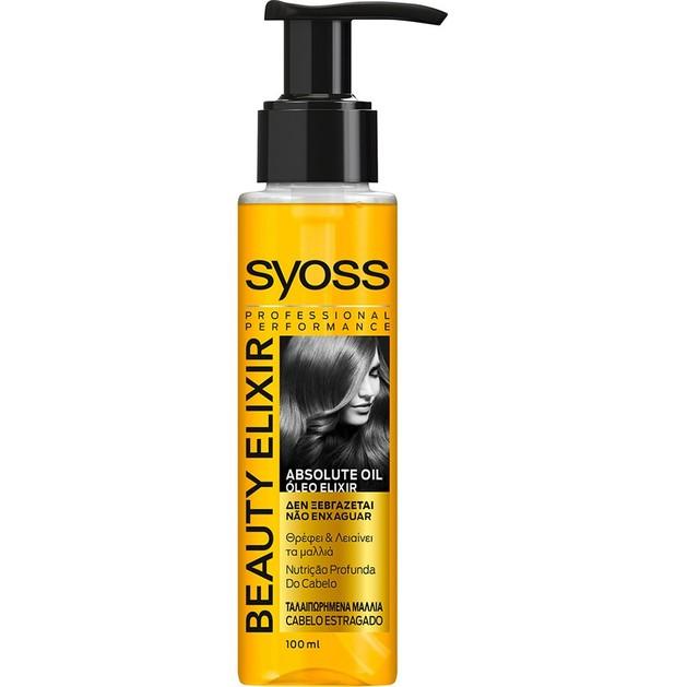 Syoss Treatment Beauty Elixir Oil Ελιξίριο Θρέψης & Λείανσης στα Ταλαιπωρημένα Μαλλιά 100ml