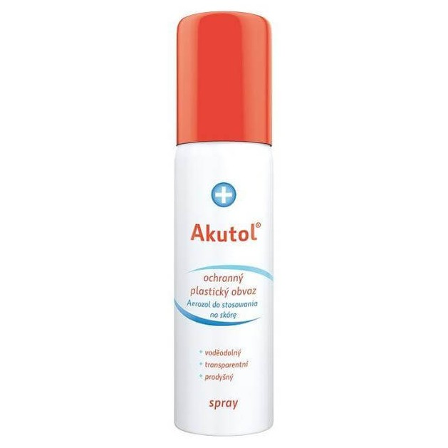 Uplab Akutol Care Spray Αδιάβροχο Πραστατεύτικο Σπρέυ Πληγών 60ml