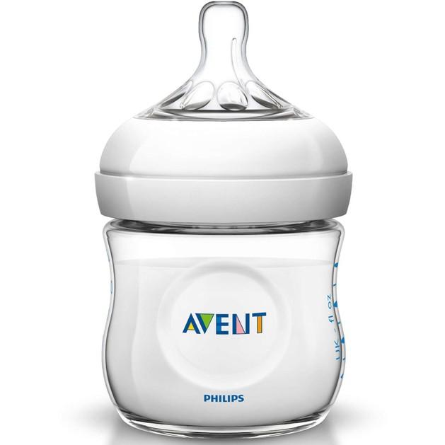 Δώρο Avent Natural Μπιμπερό για Νεογέννητα Πλαστικό Χωρίς BPA 125ml SCF030/07