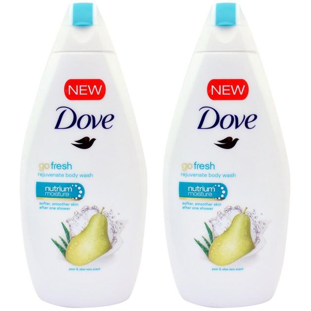 Dove Πακέτο Προσφοράς Go Fresh Pear & Aloe Vera Scent Body Wash Αφρόλουτρο Αχλάδι & Aloe για Αίσθηση Φρεσκάδας 2x750ml 1+1 Δώρο