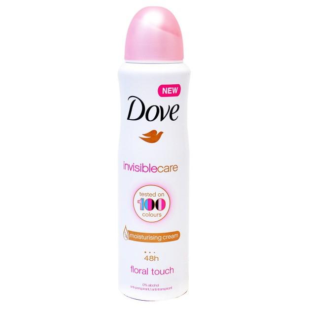 Dove Deo Spray Invisible Care 48h Floral Touch Αποσμητικό 48ωρης Αντιιδρωτικής Προστασίας Χωρίς Λευκά Σημάδια στα Ρούχα 150ml