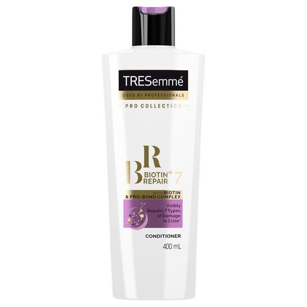 TRESemme Biotin+Repair 7 Conditioner Προστατευτική Κρέμα Μαλλιών Κατά της Θερμότητας, Αναδομεί τα Ταλαιπωρημένα Μαλλιά 400ml