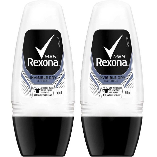 Rexona Men Πακέτο Προσφοράς Active Protection+ Invisible Roll On 2x50ml 1+1 Δώρο
