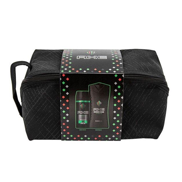Axe Promo Africa Bodywash 250ml & Body Spray 48h Fresh 150ml & Washbag
