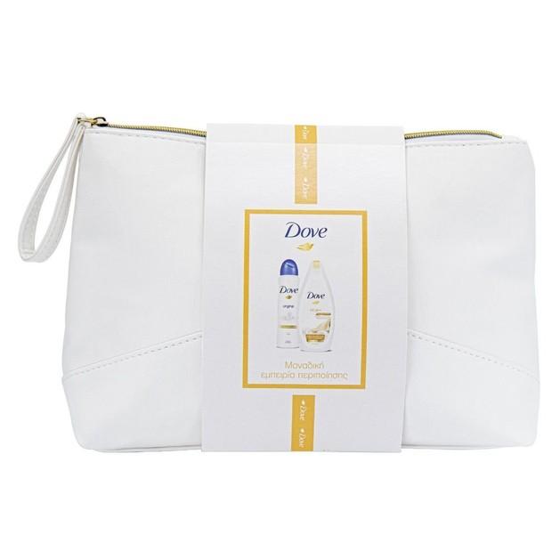 Dove Πακέτο Προσφοράς Silk Glow Body Wash Ενυδατικό Αφρόλουτρο 250ml & Deo Spray Original 48h Αποσμητικό 150ml