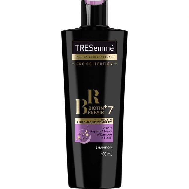 TRESemme Biotin+Repair 7 Shampoo Προστατευτικό Σαμπουάν Κατά της Θερμότητας, Αναδομεί τα Ταλαιπωρημένα Μαλλιά 400ml Promo -40%