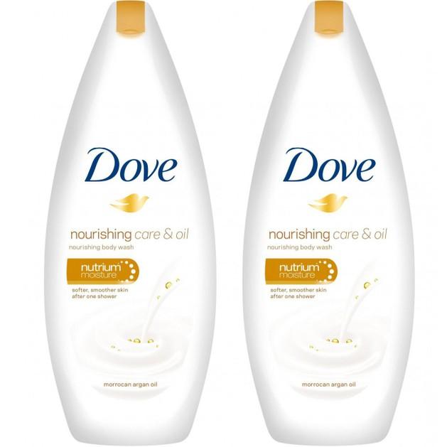 Dove Πακέτο Προσφοράς Nourishing Care & Oil Body Wash Αφρόλουτρο για Μεταξένια Επιδερμίδα από το Πρώτο Ντους 2x500ml 1+1 Δώρο