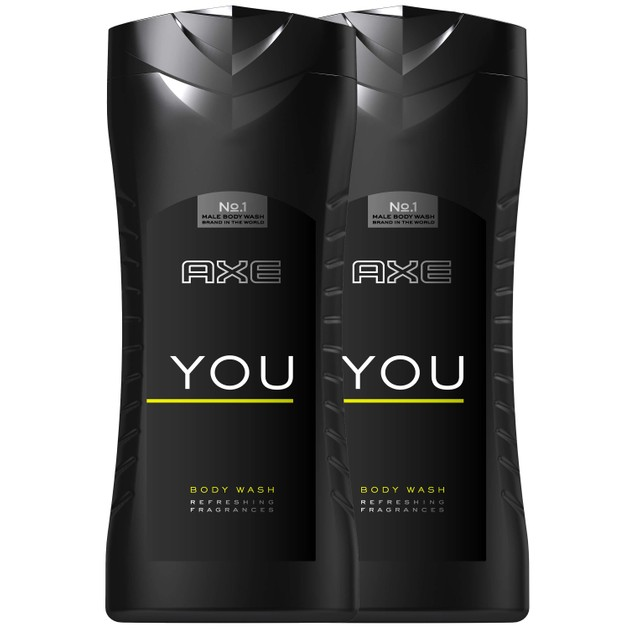 Axe Πακέτο Προσφοράς You Body Wash XL, Ενυδατικό Αφρόλουτρο 2x400ml 1+1 Δώρο