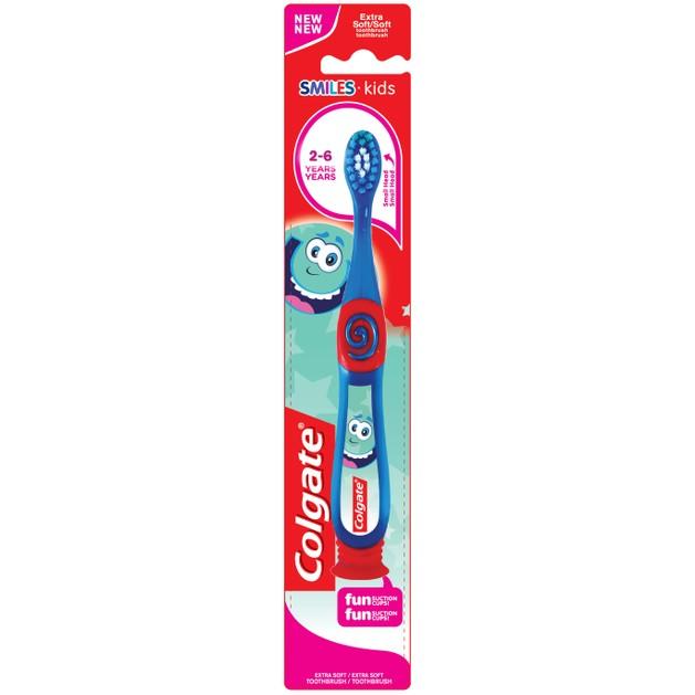 Colgate Smiles Kids Extra Soft Παιδική Οδοντόβουρτσα Κόκκινο-Μπλε Χρώμα 2-6 Ετών
