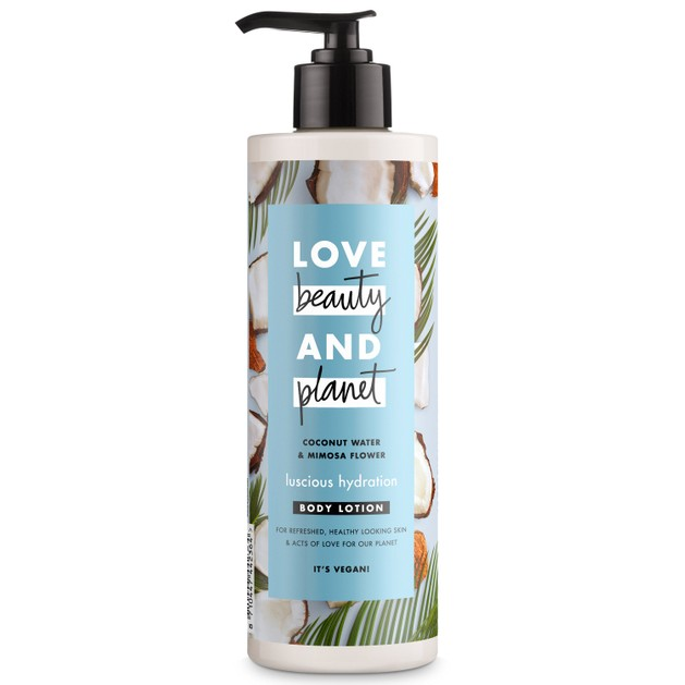 Love Beauty & Planet Coconut Water & Mimosa Flower Body Lotion Ενυδατικό Γαλάκτωμα Σώματος με Νερό Καρύδας & Άνθη Μιμόζας 400ml