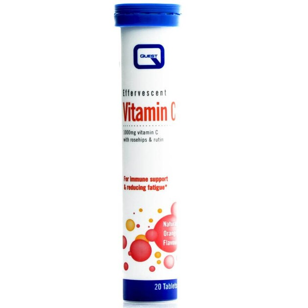 Quest Effervescent Vitamin C 1000mg Αναβράζουσα Βιταμίνη C Ενίσχυση του Ανοσοποιητικού Συστήματος 20Effer.tabs