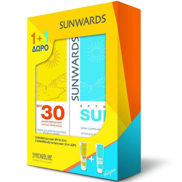 Sunwards Πακέτο Προσφοράς Face Cream Spf30 Αντηλιακή Κρέμα Προσώπου 50ml & Δώρο After Sun Face Cream 50ml