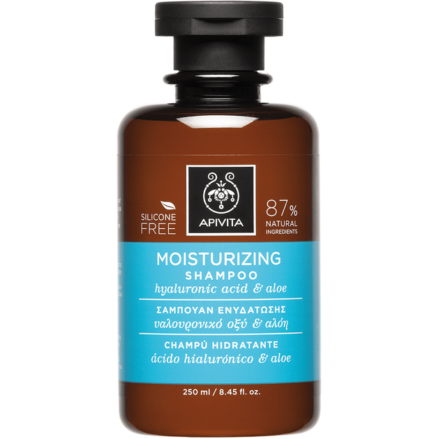 Moisturizing Shampoo With Hyaluronic Acid & Aloe 250ml - Apivita