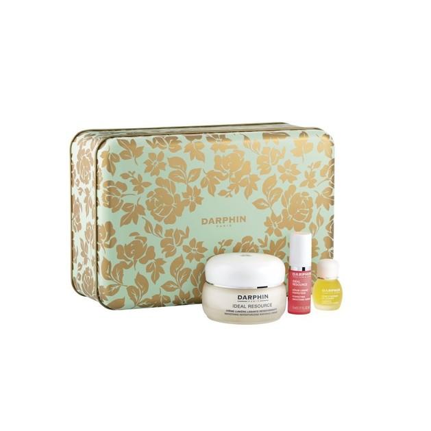 Darphin Set Ideal Resource Smoothing Retexturizing Radiance Cream 50ml, Perfecting Serum 5ml & Jasmine Aromatic Care 4ml