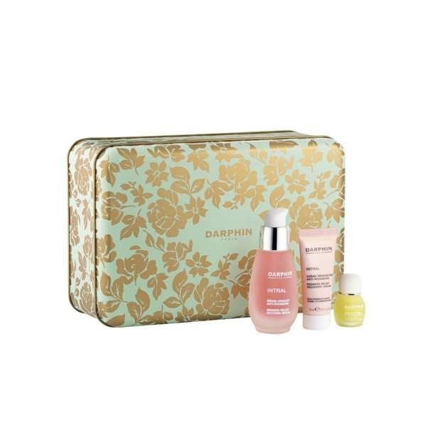 Darphin Set Intral Redness Relief Soothing Serum 30ml, Redness Relief Recovery Cream 15ml & Chamomile Aromatic Care 4ml