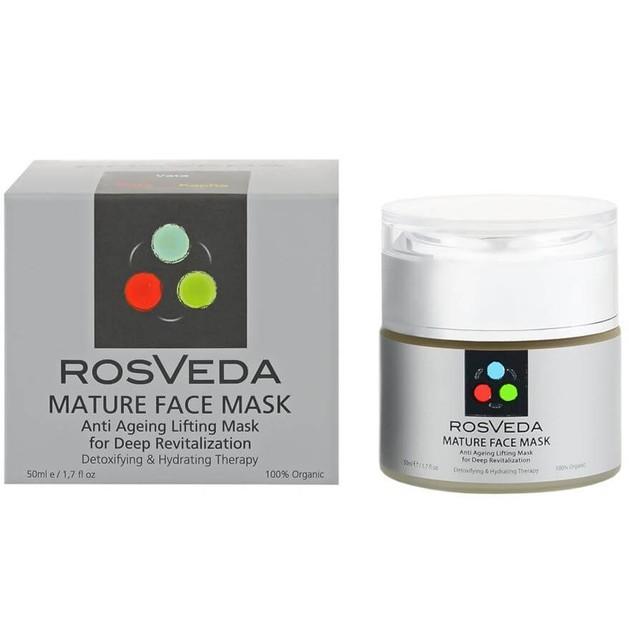 RosVeda Mature Mask 100% Φυτική Σύνθεση για Ώριμα Δέρματα Αντιγηραντική Μάσκα Προσώπου Αναζωογόνησης-Αποτοξίνωσης 50ml