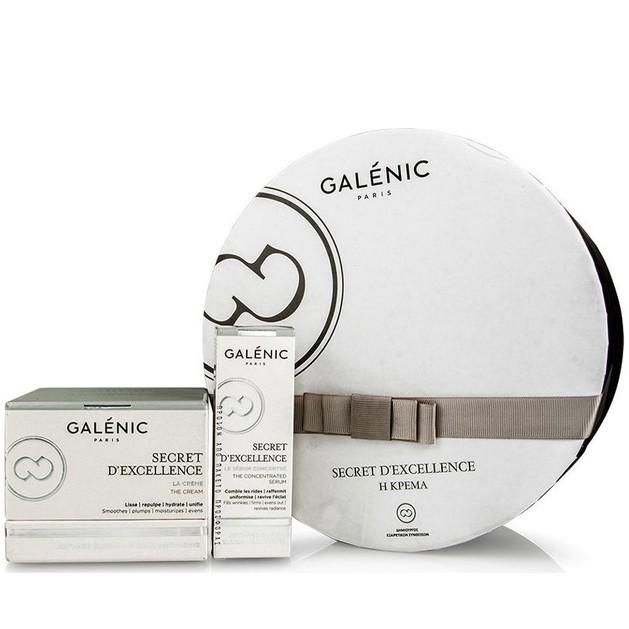 Galenic Πακέτο Προσφοράς Secret D\'Excellence La Crème Κρέμα Αντιγήρανσης 50ml & Secret D' Excellence Συμπυκνωμένος Ορός 10ml