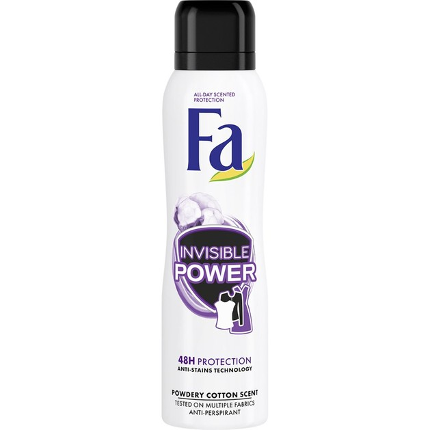 Fa Deodorant Spray Invisible Power Αποσμητική Αόρατη Προστασία Μακράς Διάρκειας & Προστασία από τους Λεκέδες 150ml