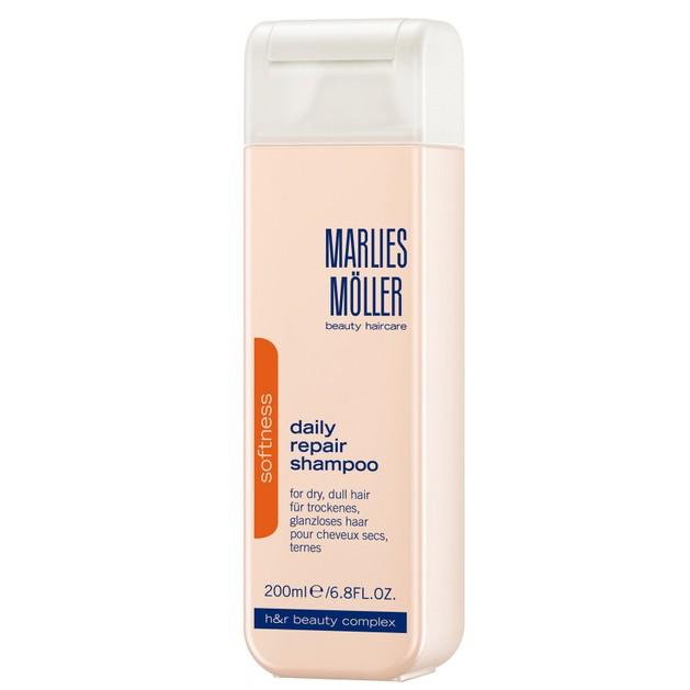 Marlies Moller Softness Daily Repair Shampoo Απαλό Επανορθωτικό Σαμπουάν Καθημερινής Χρήσης για Ξηρά Θαμπά Μαλλιά 200ml
