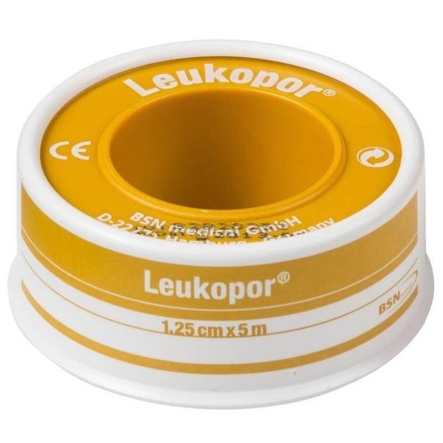 BSN Medical Leukopor Αυτοκόλλητη Υποαλλεργική Επιδεσμική Ταινία 1,25cm x 5m