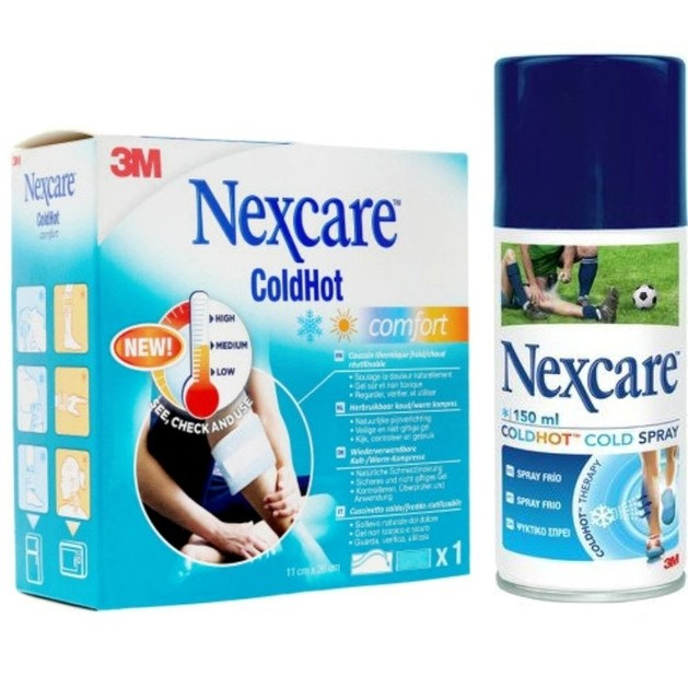 3M Nexcare ColdHot Comfort Παγοκύστη/Θερμοφόρα σε Μορφή Ζελέ 11cm x 26cm & Δώρο Cold Spray Ψυκτικό Σπρέι 150ml