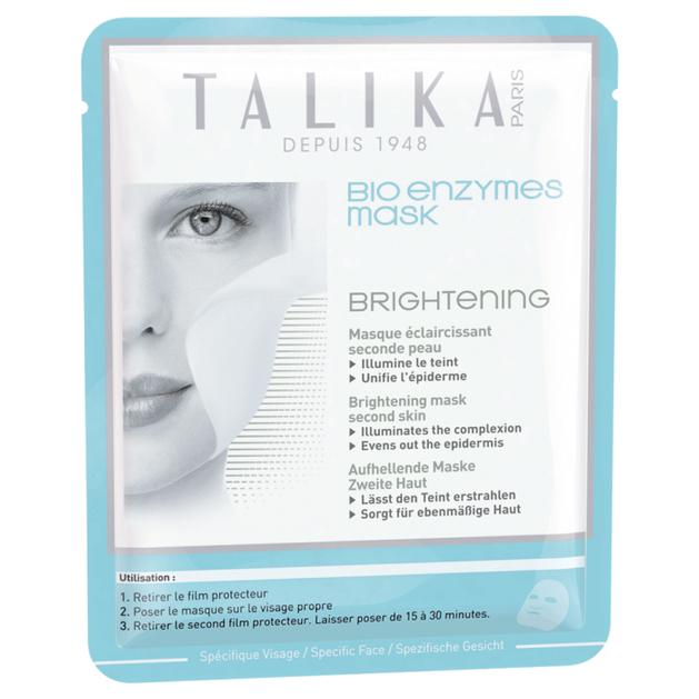 Talika Bio Enzymes Brightening Mask Μάσκα Προσώπου Λάμψης & Ενυδάτωσης 1τμχ