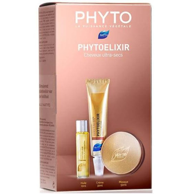 Phyto Πακέτο Προσφοράς Phytoelixir Huile 10ml & Cleansing Cream 30ml & Masque 50ml Very Dry Hair