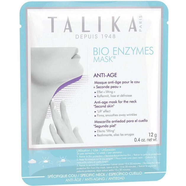 Talika Bio Enzymes Mask Anti-Age for the Neck Αντιγηραντική Μάσκα Λαιμού 1τμχ