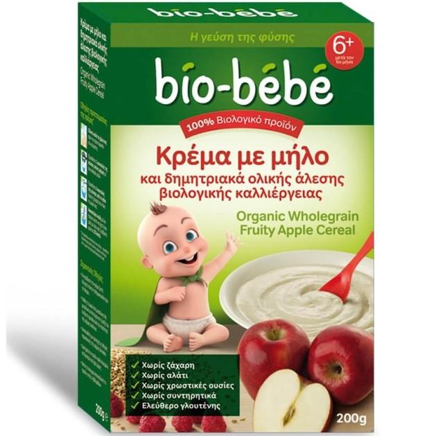 Bio Bebe Κρέμα με Μήλο & Δημητριακά Ολικής Άλεσης Βιολογικής Καλλιέργειας 200gr  -0,50€ Έκπτωση